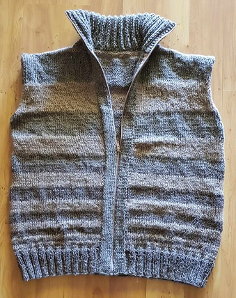 knitted sleeveless vest